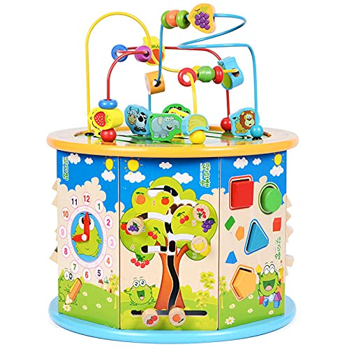 brain game Children Toys, Multifunctional Beaded Treasure Box, Puzzle Beaded Building Blocks Math toys