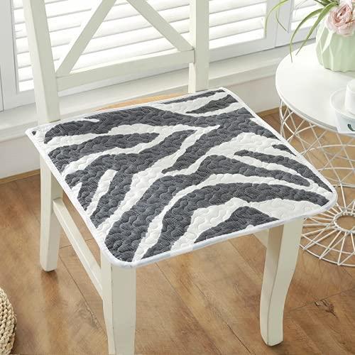 QINDONG Cojín de tela de algodón para silla de oficina, cojín antideslizante 6 40 x 40 cm