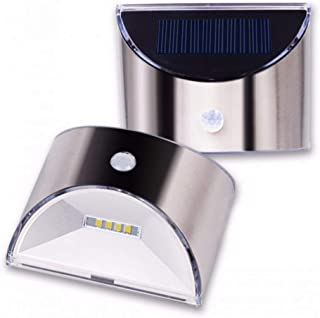Outdoor Stainless Steel Solar Wall Lamp Waterproof 4 Leds Yard Garden Lighting Fence Step Stairs Lights