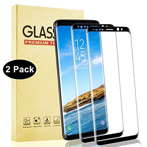 Lixuve Protector de Pantalla para Samsung Galaxy S9 Plus, Cobertura Toda Vidrio Templado 2 Piezas, 9H Dureza, Alta Definicion, Anti-Arañazos Cristal Templado