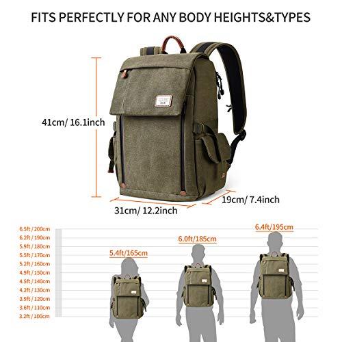 Camera Backpack, Zecti Waterproof Large Canvas Camera Bag Professional DSLR Camera...