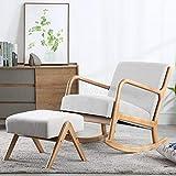 LJQLXJ divano Rocking Chair Household Rocking Chair Leisure Chair Lazy Sofa Single Sofa Chair Balcony Leisure Chair,Same as picture2