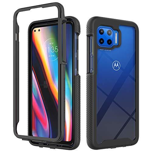 Schutzhülle für Motorola Moto G 5G Plus Hülle, Fall- und stoßdämpfende Schutzhülle für Motorola Moto One 5G UW XT2075-1 XT2075-2 / Moto G 5G Plus XT2075-3 / Moto G8 Plus 5G, Schwarz