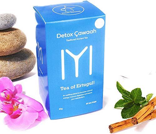 Detox Cawaah - Detox Tea for Weight Loss Burn Fat Day and Night Detox Cleanse Green Tea - 20 Tea Bags
