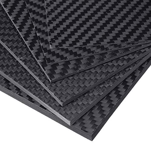 TuToy 100X250X (0,5-5) Mm Black Matte Twill Carbon Fiber Plate Sheet Board Weave Carbon Fiber Pannel Various dikte - 4mm