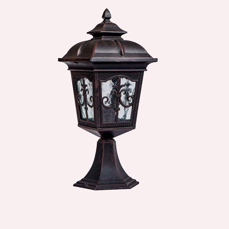 Magosca Outdoor Druckguss Spalte Licht Europischen Garten Wand Wasserdichte Ip65 Lampe Kreative Vintage Türpfosten Lampe Hof Terrasse Sule Lichter Rostschutz Rasen Dekoration Sule Lampe