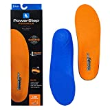 Powerstep Arch Support Shoe Insert, Pinnacle Low Insoles for Men and Women, Orthotic Heel Cushion Inserts for Overpronation, Blue and Orange, Men's Men's 4-4.5 Women's 6-6.5