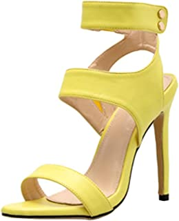 Women's Shoes Fashion Casual Fluorescent Sandals Solid Color High Heels Shoes