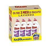 Dixan Lavanda - Detergente líquido para lavadora, tecnología de limpieza profunda, 80 lavados