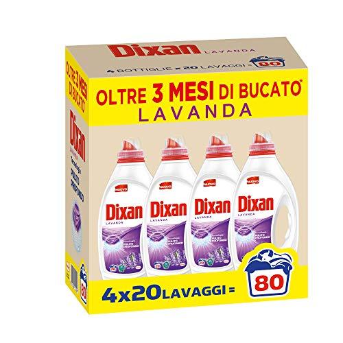 Dixan Flüssigwaschmittel Lavendel 80 Waschmittel Flüssig für Waschmaschine 4x20