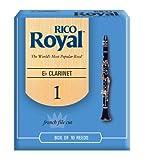 Rico Anches Rico Royal pour clarinette mi bémol, force 1.0, pack de 10