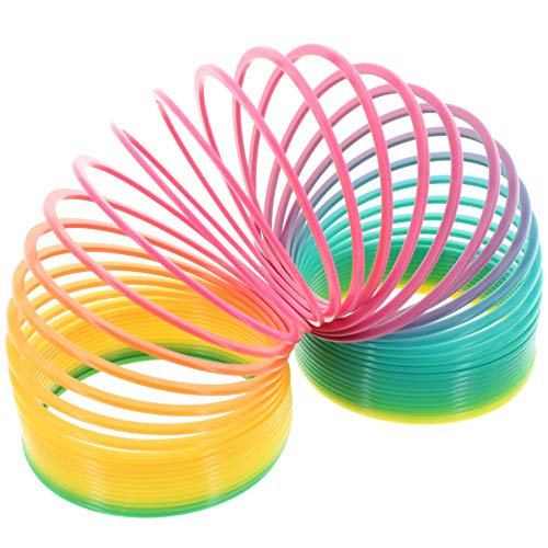 MIK funshopping Regenbogenspirale Physikspielzeug Rainbow Springy (Regenbogen, 10cm)