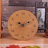 SXZHDZ Orologio da Tavolo Orologio da caminetto Piazza Comodino Orologio Home Arredamento Creativo Muto Nonno Orologio 12 x 12 x 4.5cm