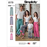 Simplicity 8179 Easy-to-Sew Children, Teen and Adult Pajama Pants Sewing Pattern in Sizes ...