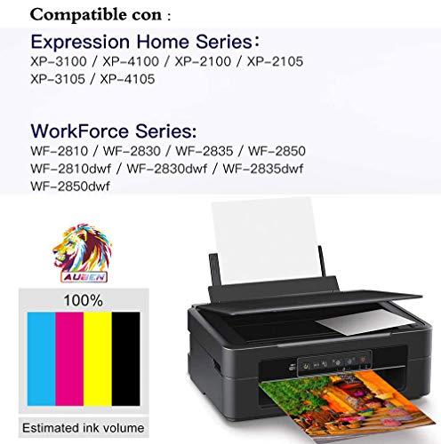AUBEN Reemplazo Compatible con 603 XL para Epson 603XL Cartuchos de Tinta con Expression Home XP-2100 XP-2105 XP-3100 XP-3105 XP-4100 XP-4105, Workforce WF-2810 WF-2830 WF-2835 WF-2850
