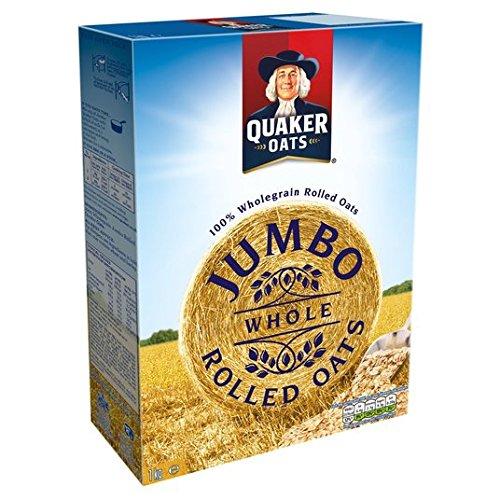 Quaker Jumbo Avena Copos De Avena Gachas 1Kg