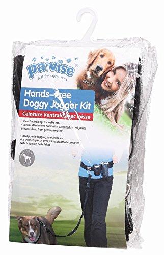 PAWISE 13065 Ceinture de Jogging pour Chien Doggy Kit de Jogging avec Laisse et Ceinture