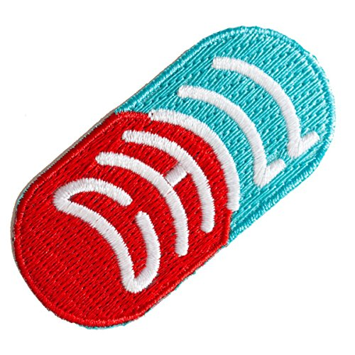 These Are Things Chill Pill Embroidered Iron On or Sew On Patch