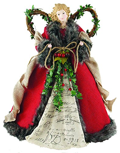 Rustic Angel with Vine Wings Topper for Christmas Tree