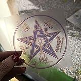 Pegatina Adhesivo TETRAGRAMMATON, poderoso amuleto, talismán de protección personal