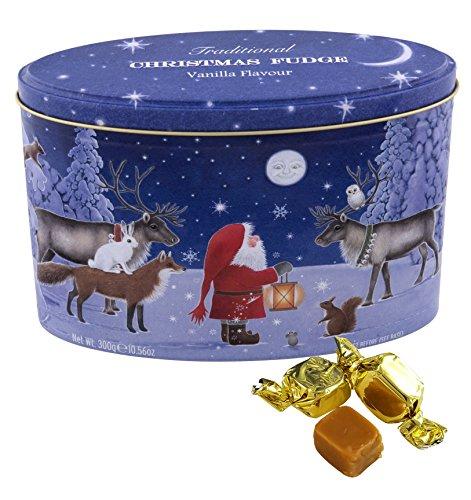 Gardiners of Scotland Vanilla Fudge Caramel Gift Tin, Santa with his Reindeer, 10.56 Ounce