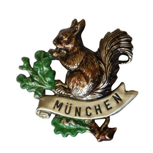 Breiter - Hutanstecker, Hutabzeichen, Hutschmuck, Anstecker: Eichhörnchen München