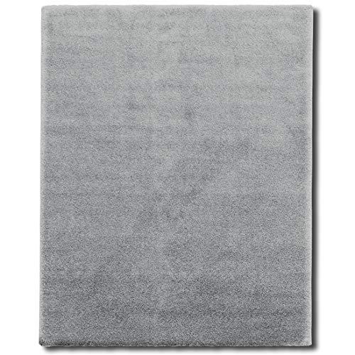 Tappeto Salotto Shaggy - Tappeto Pelo Lungo (3 cm) e Morbido, Tappeti Soggiorno, Sala, Interno Casa, in Diversi Colori e Misure - 200x290 cm - Grigio chiaro