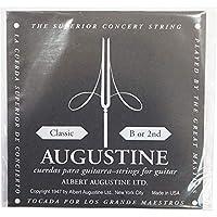 AUGUSTINE BLACK 2st クラシックギター弦 バラ弦×6本