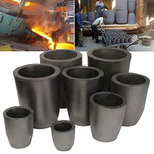 LTKJ 6KG Graphite Crucible Foundry Cup Furnace Torch Melting Casting Refining Gold Silver Copper Brass Aluminum Tool