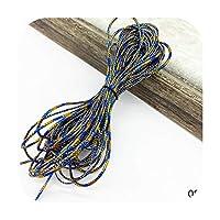 Sexy-Kawayi 10ヤードゴールドロープ麻ひもリボンウェディングクリスマスギフトパッキングコード装飾ロープDiy手作りクラフトストリングパーティーサプライ-08-