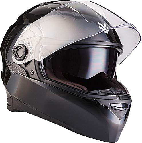 "ARMOR HELMETS® AF-77 ""Shiny Black"" · Integral-Helm · Full-Face Motorrad-Helm Roller-Helm Scooter-Helm Cruiser Sturz-Helm Sport · ECE 22.05 Sonnenvisier Schnellverschluss Tasche M (57-58cm)"