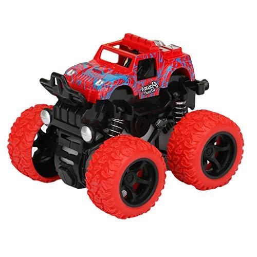 Bascar Juego de juguetes todoterreno, todoterreno, con tracción a las 4 ruedas, modelo de simulación, modelo de coche de juguete, regalo para niños, color rojo