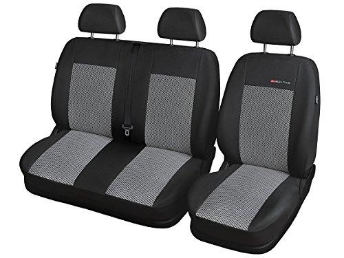 CITROEN JUMPER JUMPER Sitzbezüge nach Maß Autoplanen perfekte Passform Schonbezüge Sitzschoner Velour + Strickpolster ®Auto-schmuck (JUMPER II p2)