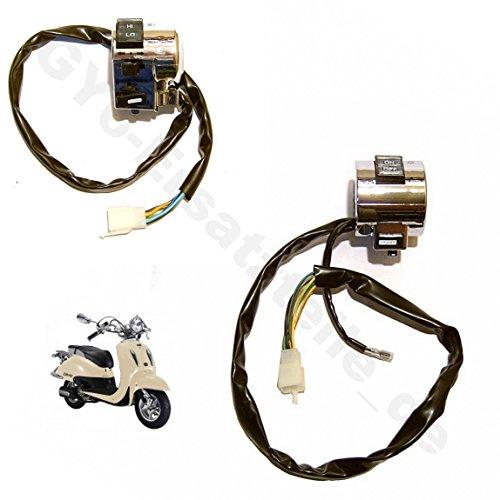 SCHALTER EINHEITEN R&L - Ø25mm LENKER z.B. für BENZHOU YIYING YY50QT-21 - FIRENZE 50 - ZNEN RETRO CRUISER ZN50QT-E - FOSTI 50 FT50QT-E und baugleiche CHINA ROLLER GY6