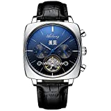 2021 nuevo reloj suizo mecánico automático cronógrafo cuadrado gran dial reloj hueco impermeable relojes de moda para hombre lujo C