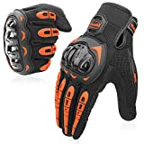 COFIT Motorcycle Gloves for Men and Women, Full Finger Touchscreen Motorbike Gloves for BMX ATV MTB Riding, Road Racing, Cycling, Climbing - Orange M