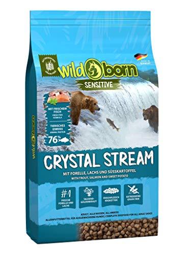 WILDBORN CRYSTAL STREAM 15kg Hundefutter getreidefrei mit Lachs & Forelle - getreidefreies Hundefutter für alle erwachsenen Hunde ab 6. Monaten | sensitives Futter ohne Zusatzstoffe