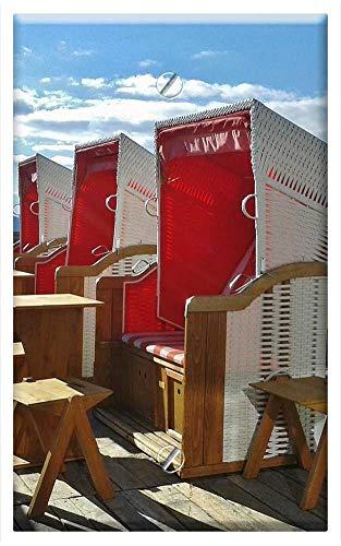 Single-Gang Blank Wall Plate Cover - Clubs Ski Holiday Sun Terrace Beach Chair Travel