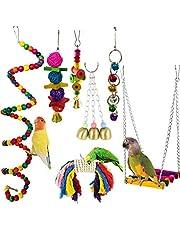 CAMITER - Campanello da masticare per uccelli, pappagalli, da appendere, per gabbie, conure, parrocchetti, cacatelle, ara, fringuelli, Mynah e graziosi uccelli