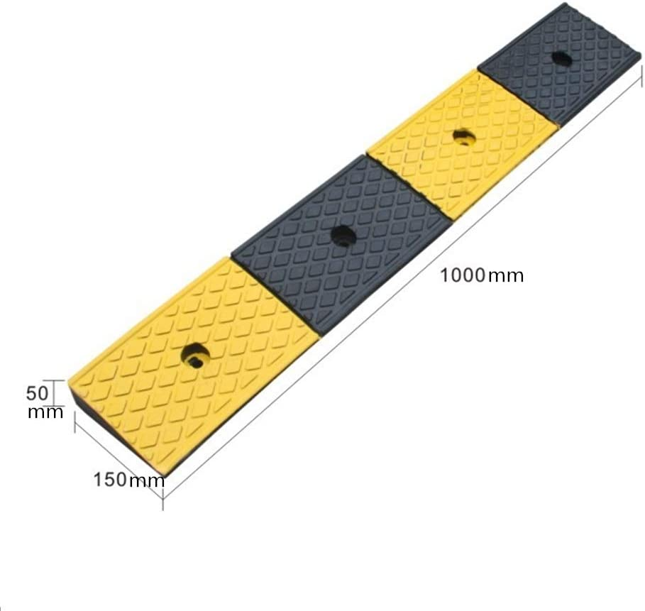 Climbing Triangle Pad Scooter Kerb Yellow Warning Safety Non-Slip Vehicle 7-13CM,for Most Cars Ramps Curb AoYanQi Portable Slope Pad Color : Yellow, Size : 502711CM