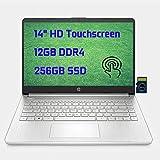 2021 HP Laptop 14 Premium Business Laptop Computer I 14' Diagonal HD Touchscreen I AMD Ryzen 3 3250U I 12GB DDR4 256GB SSD I AMD Radeon Graphics USB-C HDMI Wifi6 I Win10 + Delca 32GB MicroSD Card