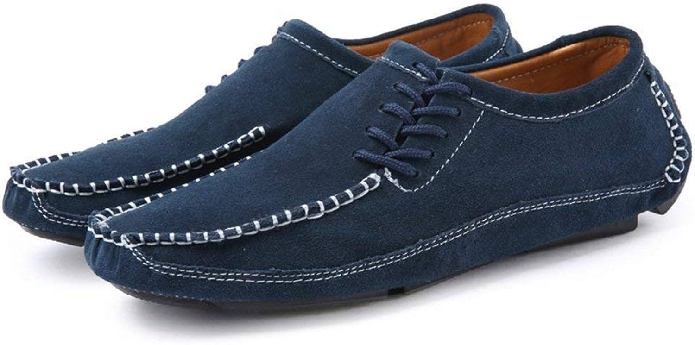 2018 Men's Moccasins shoes, Men's Driving Specialty Loafer Round Toe Flat Heel Solid color Splice Vamp Slip on shoes (color  Green, Size  38 EU) (color   bluee, Size   44 EU)