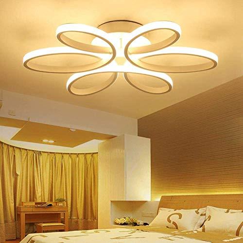WGFGXQ LED Deckenleuchten Doppelbett Schlafzimmer Romantica Bett Schlafzimmer Modernes Mädchen Schlafzimmer Beleuchtung Modernes Wohnzimmer Beleuchtung Deckenleuchten Dimmen Fernbedienung Contro \u