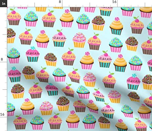 Spoonflower Fabric Sugar Cupcakes Drops Ice Cream Hipster Kids Cupcake Bakery Sweets Printed product image