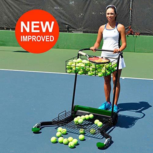 Oncourt Offcourt Tennis MultiMower - Tennis Ball Mower/Doubles as Teaching Cart / 300 Ball Capacity