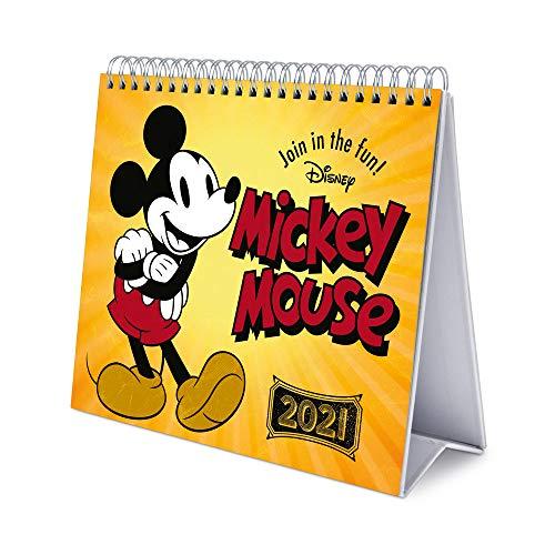 ERIK - Calendario de Escritorio 2021 Mickey Disney, 17x20 cm
