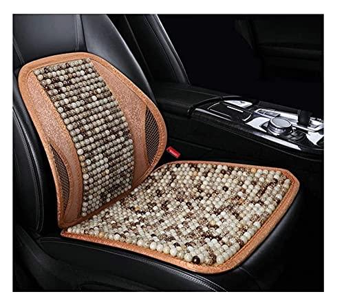 2pcs Ventilación de verano Respaldo cómodo transpirable, soporte trasero para sillas de automóviles, enfriamiento transpirable con cuentas  Asiento de coche cubierta ( Color : B , Size : 1PCS )