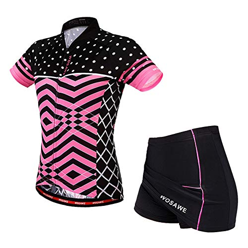 WOSAWE Ropa Deportiva de Ciclismo for Mujer, Transpirable Maillot Bicicleta y 3D...