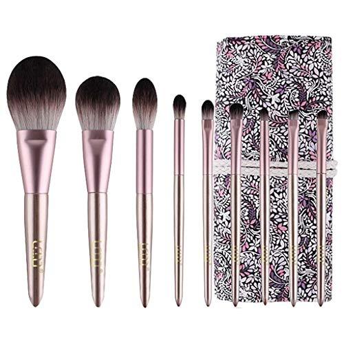 LHY- Lot de 9 pinceaux de maquillage - Poils souples - Poudre douce - Fard à paupières - Ensemble professionnel tendance