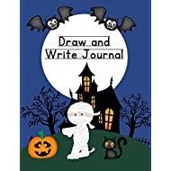 """Draw and Write Journal: Halloween Composition Notebook for Kids - Paper With Primary Lines for Writing Stories and Blank Space for Drawing Pictures - 140 Pages - 7.4"""" by 9.7"""" Mummy Design"""
